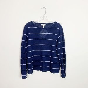 Eileen Fisher   striped pullover sweater blue S